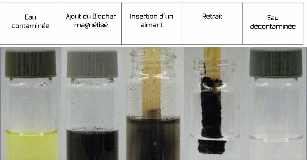 Projet Biochar : dépolluer les eaux