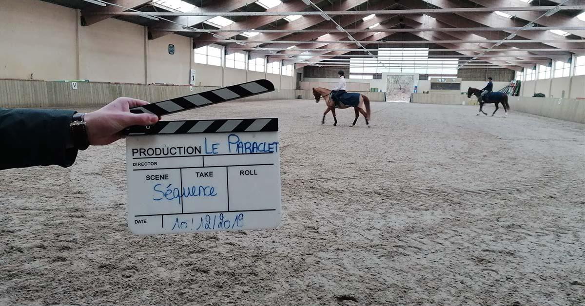 Un tournage au Paraclet